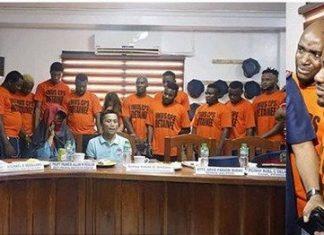 13 suspected Nigerians