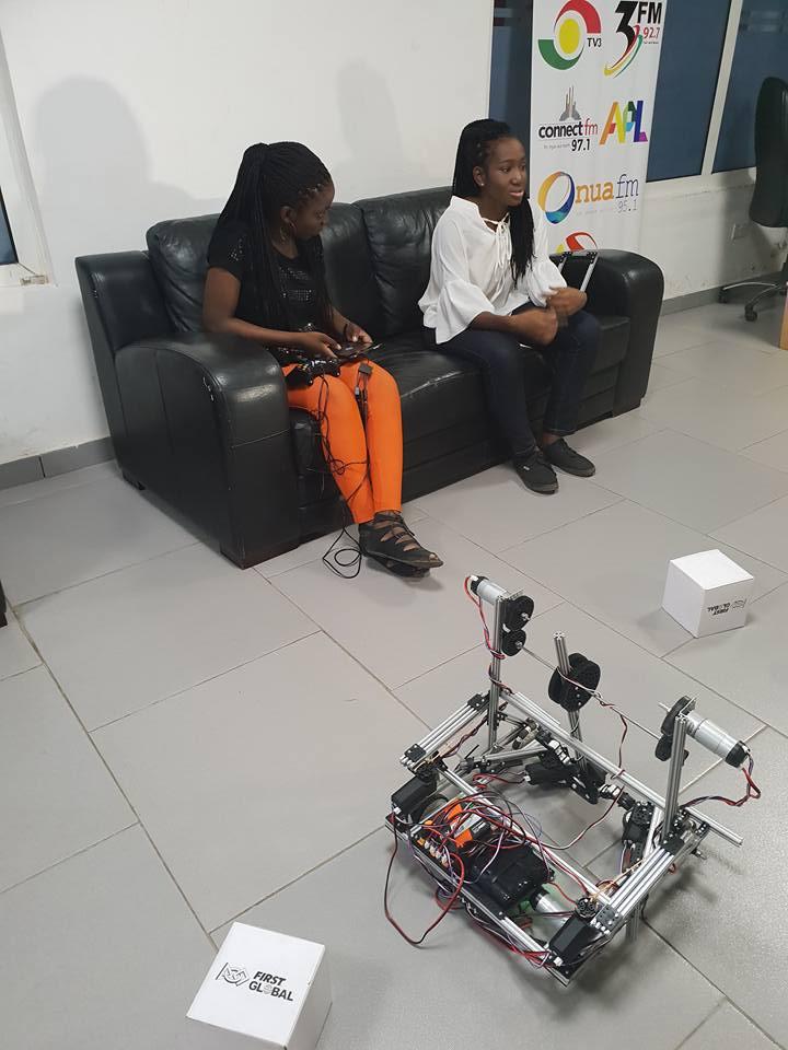 2 female engineers built robots in ghana