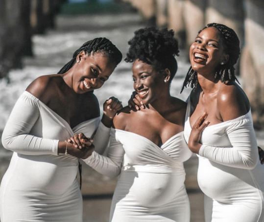3 pregnant sisters pregnancy photos