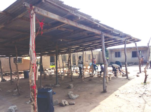 30 children abandon school pitch camp in church