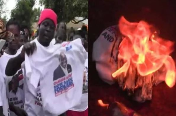 50 NPP members allegedly defect to NDC burn Akufo-Addo branded shirts airnewsonline