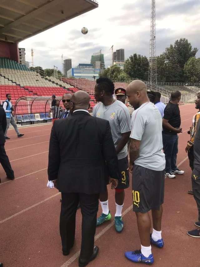 Akufo-Addo visits Black stars in ethiopia