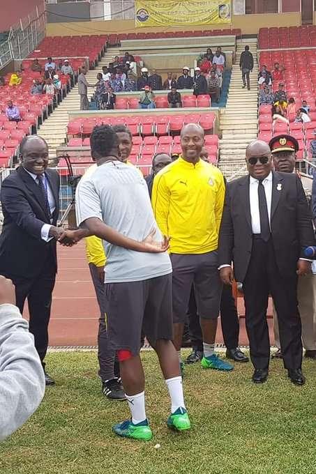 Akufo-Addo visits Black stars