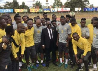 Akufo-Addo visits the Black stars