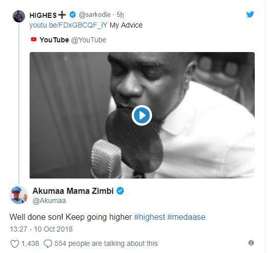 Akumaa Mama Zimbi congratulates Sarkodie for releasing the best diss song for Shatta Wale | Airnewsonline