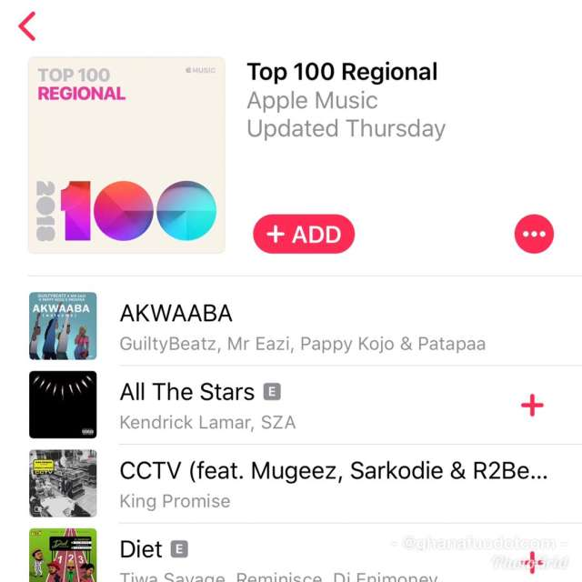 Apple Music Top 100 Regional