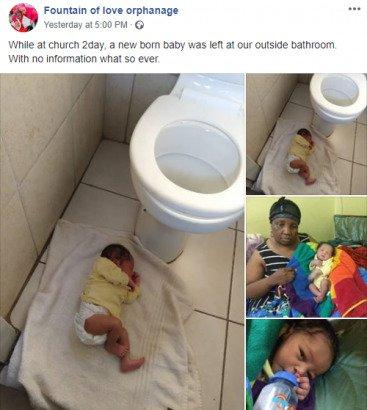 Baby abandoned in church bathroom airnewsonline
