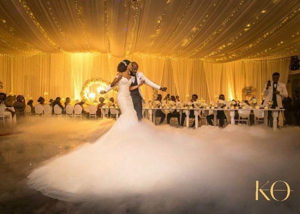 Banky W and Adesua celebrate 1st white wedding