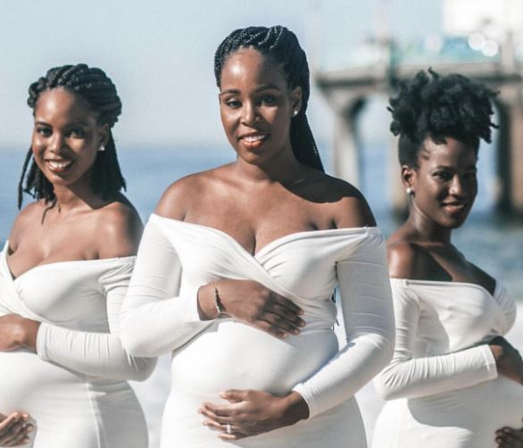 Beautiful maternity photos of 3 biological sisters pregnant at same time goes viral