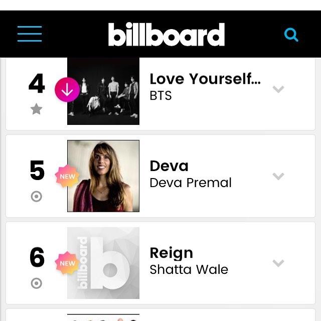 Billboard World Album Charts Reign Album