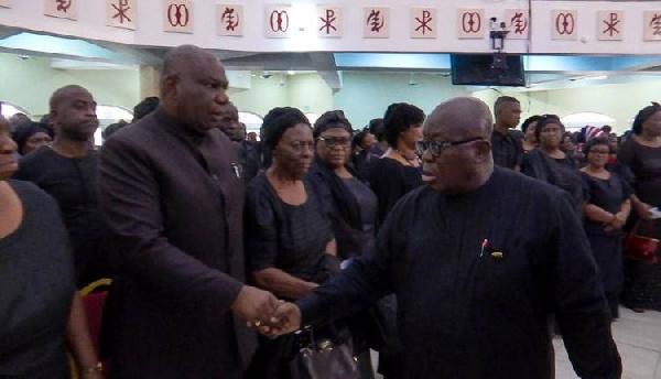 Boakye Agyarko ignores Akufo-Addo at funeral | Airnewsonline