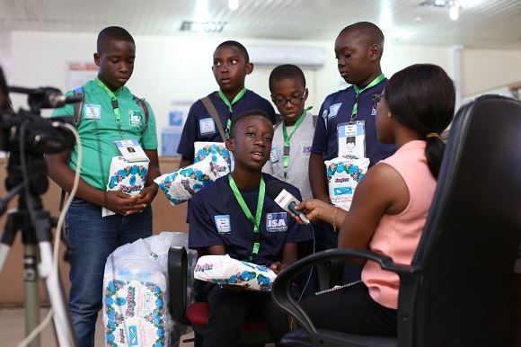Boys raise funds to buy sanitary pads for unprivileged girls in primary schools
