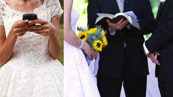 Bride reads out husbands cheating texts instead of vow