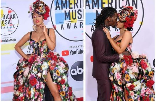Cardi B and Offset kiss at 2018 American Music Awards airnewsonline