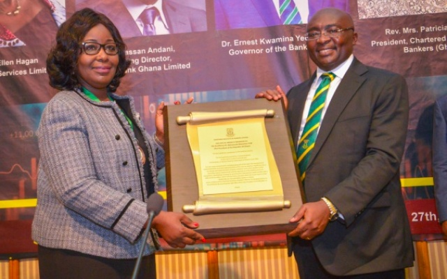 Chartered Institute of Bankers honours Bawumia