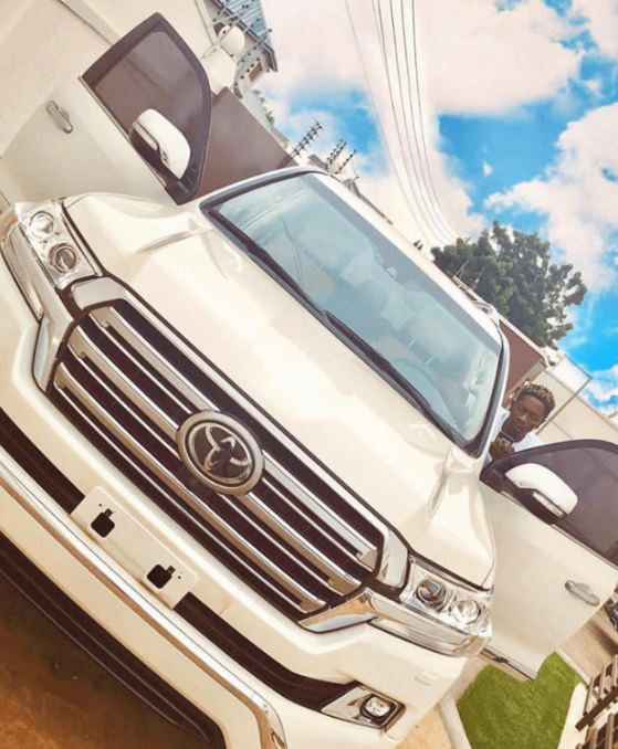 Check out Shatta Wales new Toyota Land Cruiser V8 worth 400000 cedis