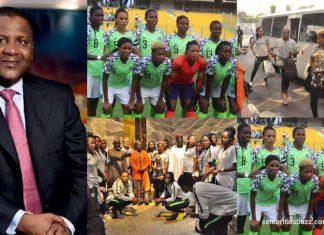 Dangote gifts Super Falcons 50 Million Naira
