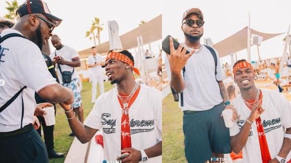 Davido and Paul Pogba party Dubai | Airnewsonline