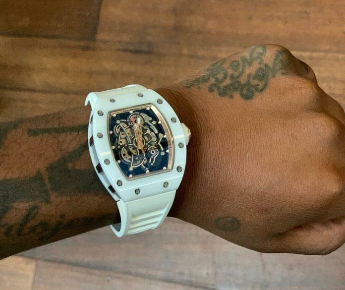 Davido shows off Richard Mille timepiece