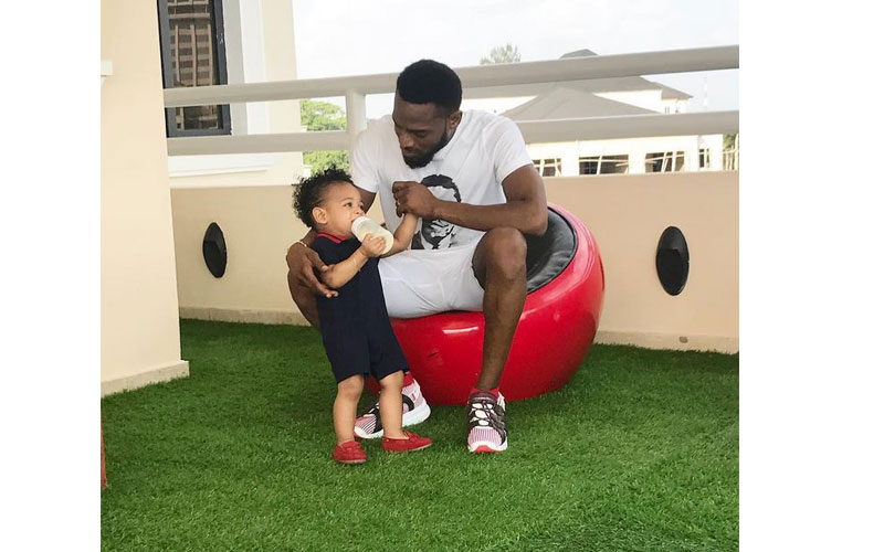 D'banj with his late son