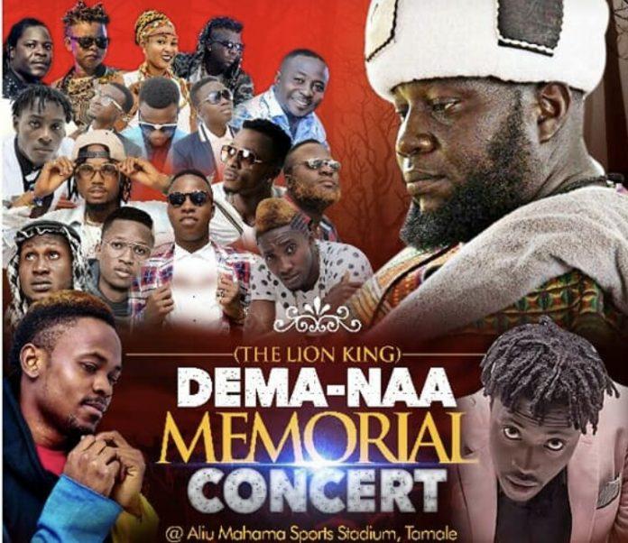 Dema-naa memorial concert cancelled