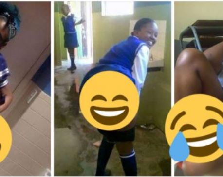 Female secondary school student show off her pants in class airnewsonline