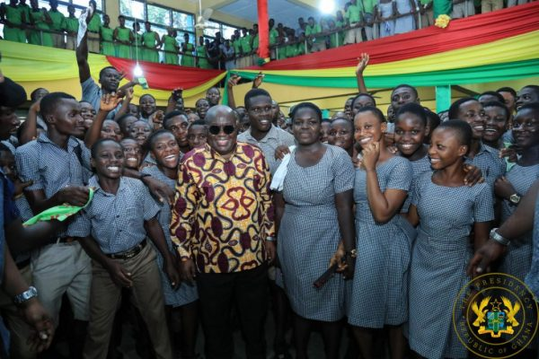 Free SHS policy is working says Akufo-Addo