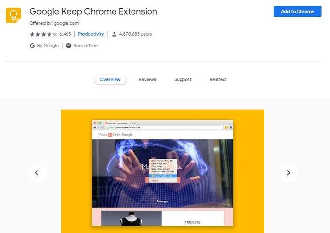 Google Keep Chrome Extension | Airnewsonline