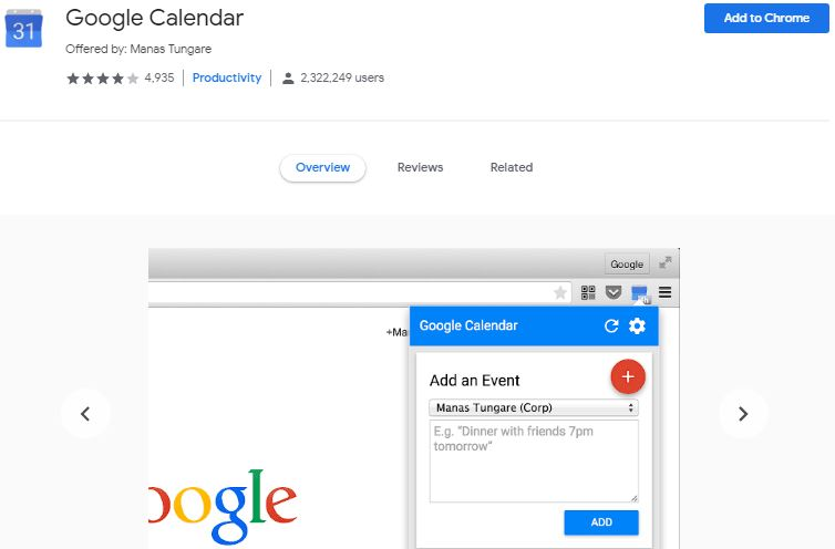 Google calendar chrome extension | Airnewsonline