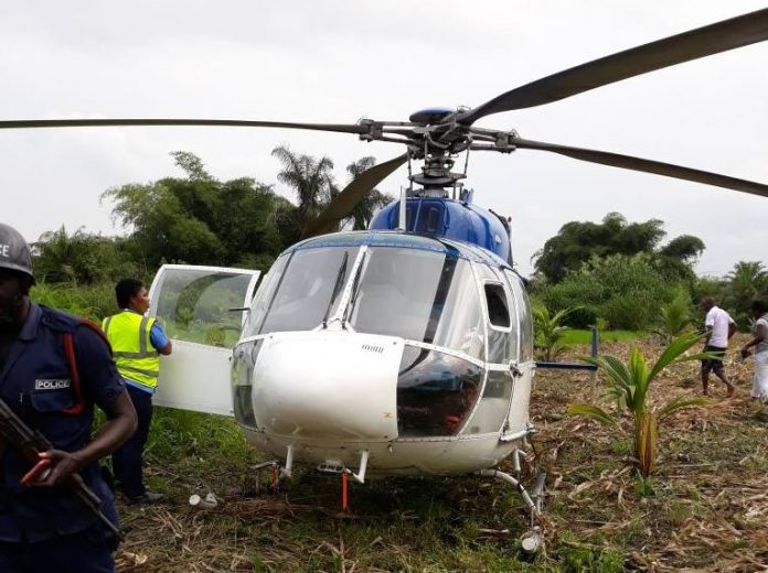 Helicopter carrying gold bars forced to land in maize farm near Asamankese