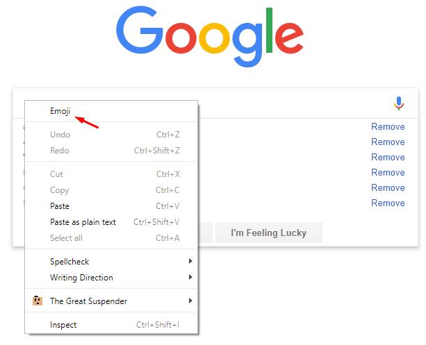 How to enable Google Chrome emoji panel