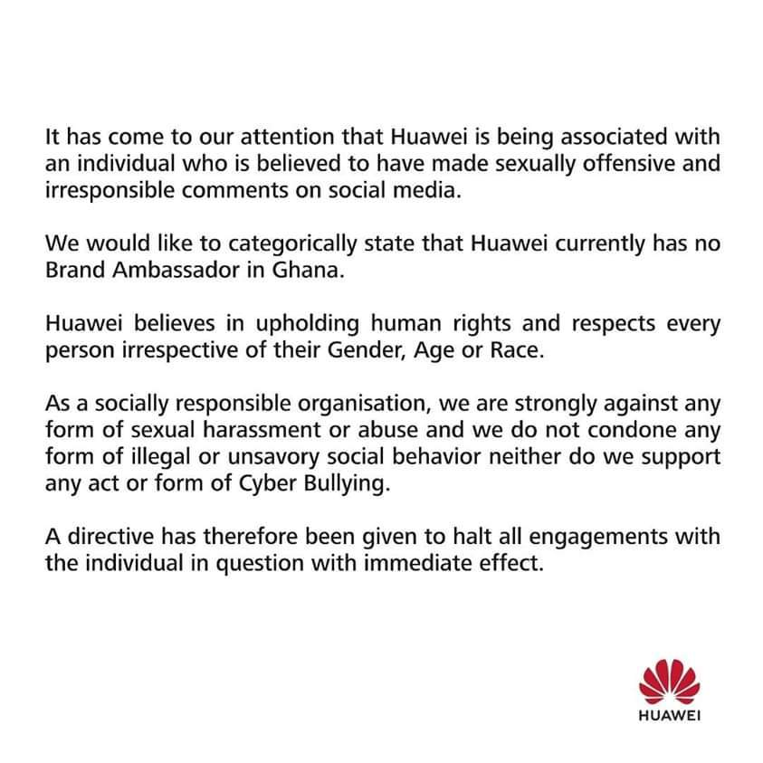 Huawei confirms termination of contract with Teacher Kwadwo   Airnewsonline