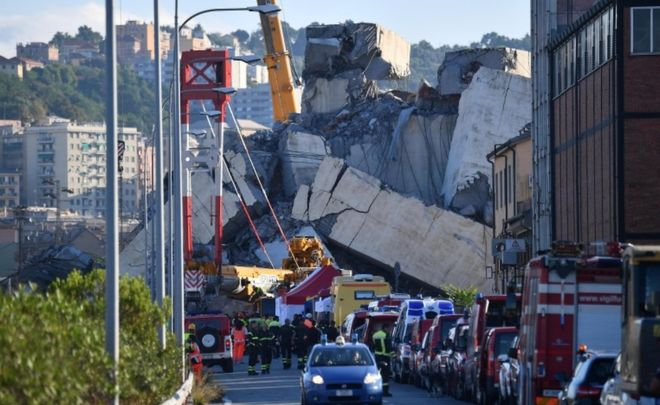 Italy bridge collapse State of emergency declared after Genoa disaster