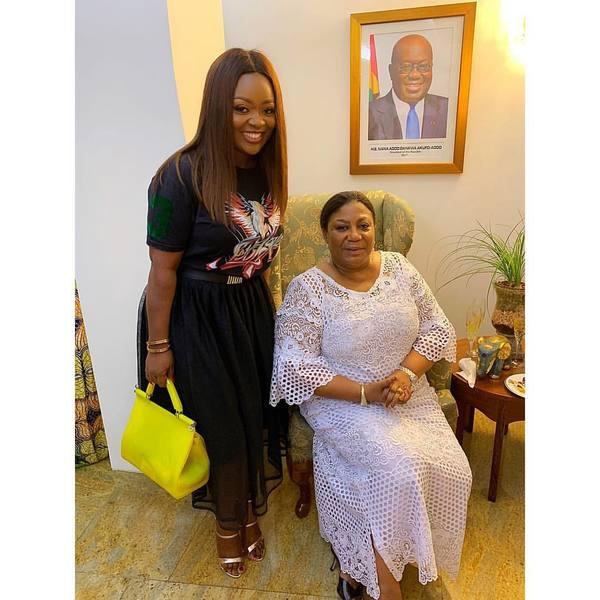 Jackie Appiah meets Rebecca Akufo-Addo   Airnewsonline