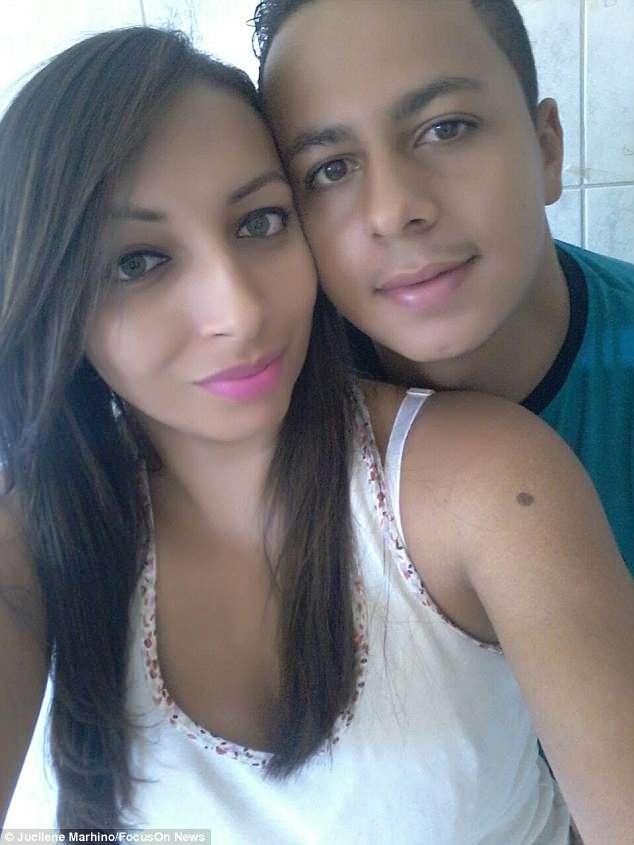 Jucilene with boyfriend