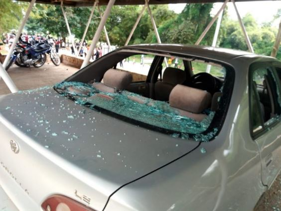 KNUST students demo over brutalities turns violent | Airnewsonline