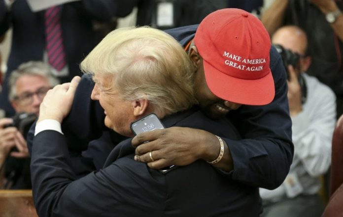 Kanye West meets President Trump