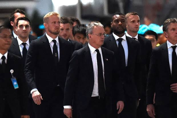 Leicester City players in Thailand for owners funeral