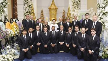 Leicester City players in Thailand