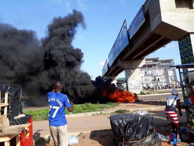 Madina-Adenta highway protest