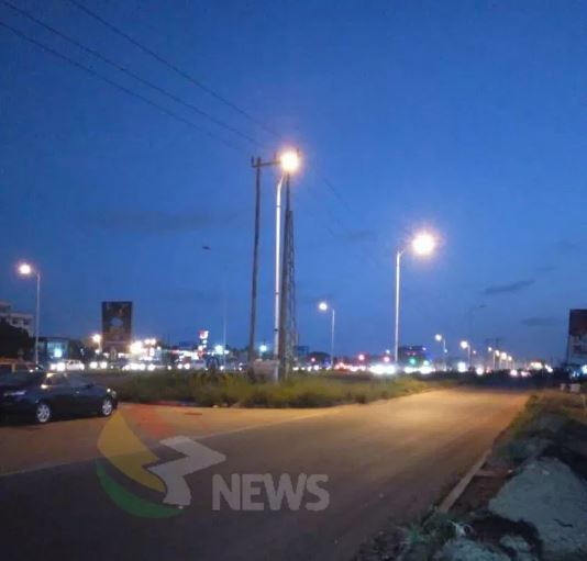 Madina-Adentan streetlights fixed