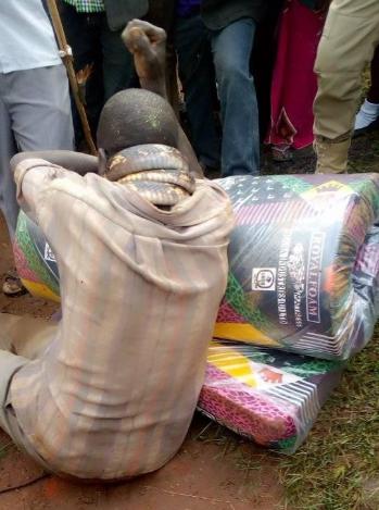 Man arrested by snake after stealing mattress