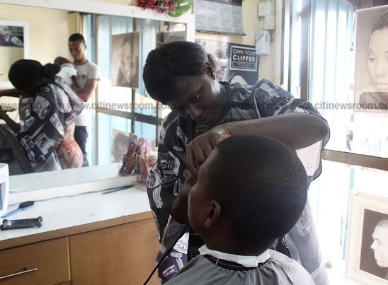 Fidelia Adogo Meet the Ghanaian woman making a living from barbering in Accra