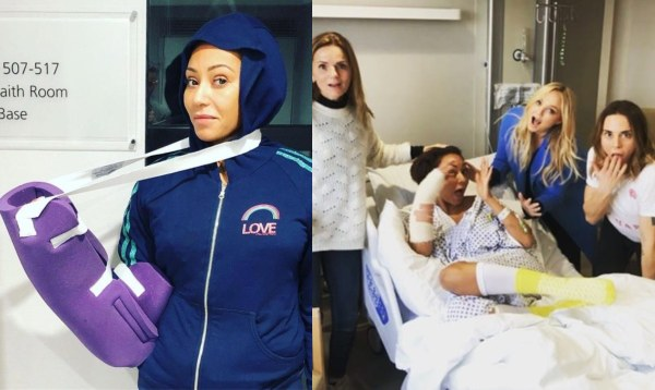 Mel B hospitalized after fracturing her ribs