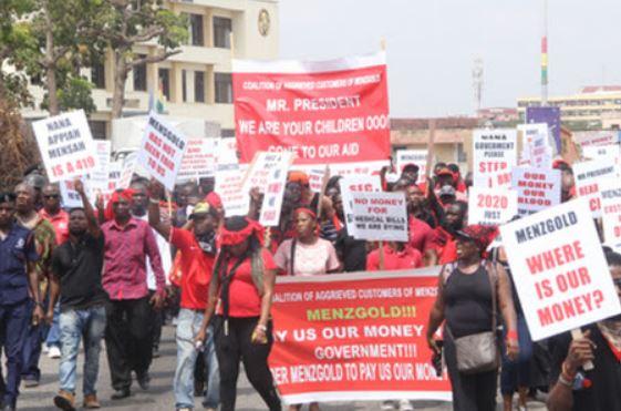 Menzgold customers storm Dzorwulu office