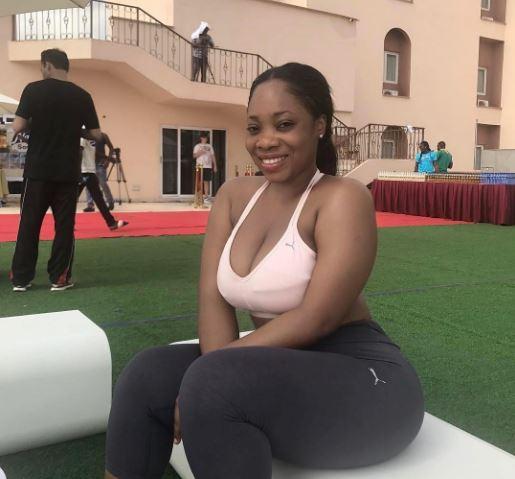 Moesha Boduong holds her hip