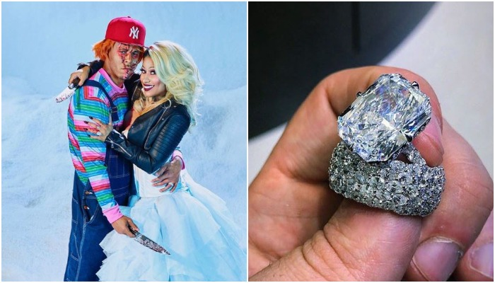 Image result for Nicki Minaj flaunts gigantic $1.1M wedding ring bought by her husband Kenneth Petty (PHOTOS)