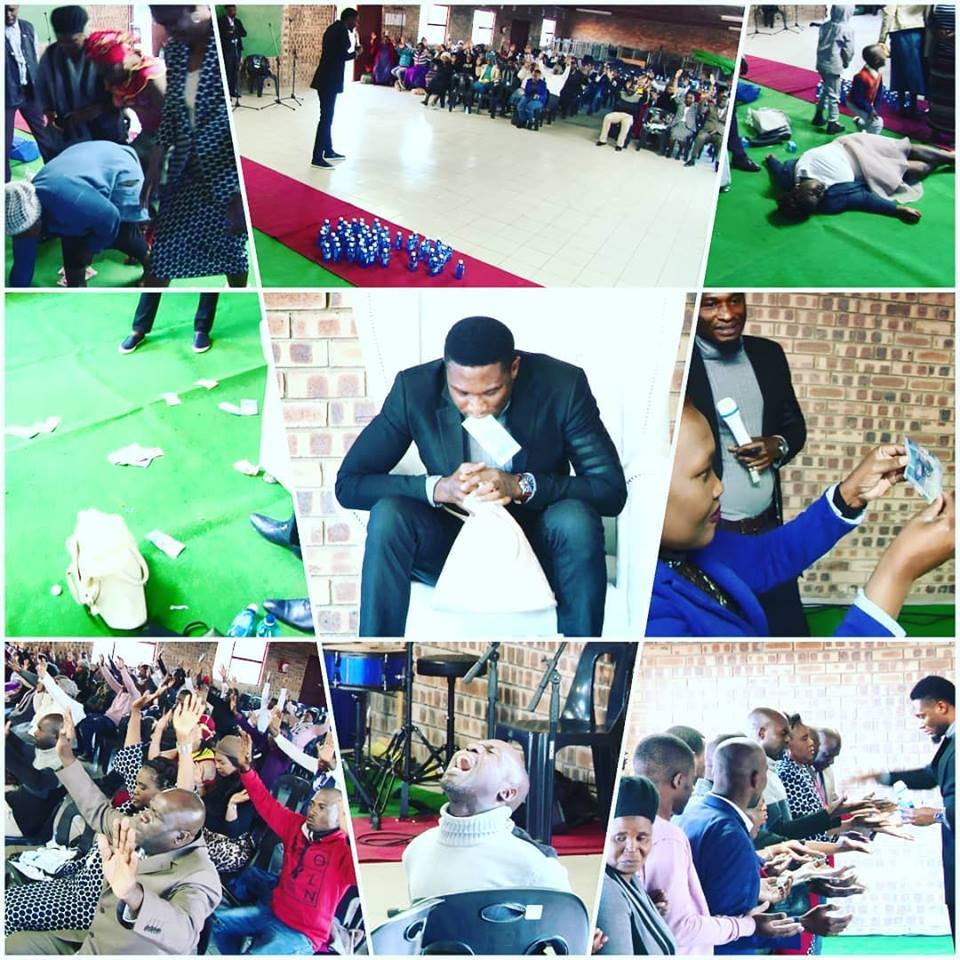 Nigerian pastor vomits miracle money in church