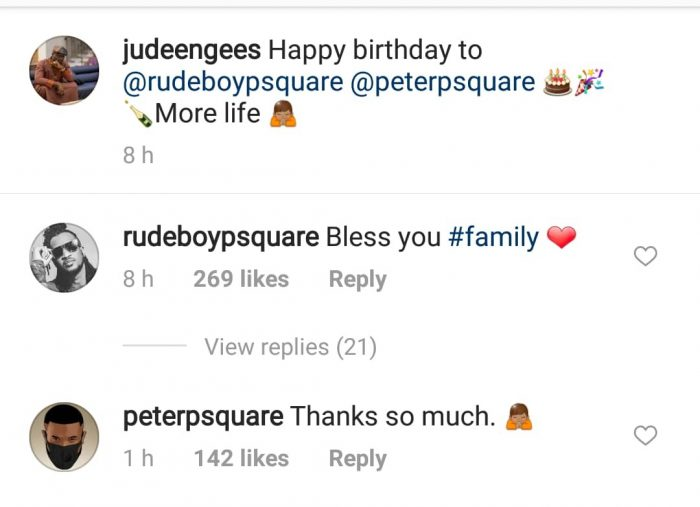 Peter and paul react to birthday message from jude