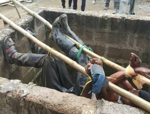 Poilce rescues 2 masons tied airnewsonline